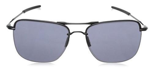 Oakley Designer Sunglasses Tail Hook OO4087-01 in Satin-Black & Grey Lens