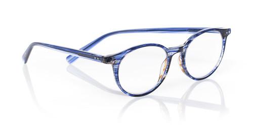 EyeBobs Designer Reading Glasses Case Closed 2419 15 Blue & Brown Stripe