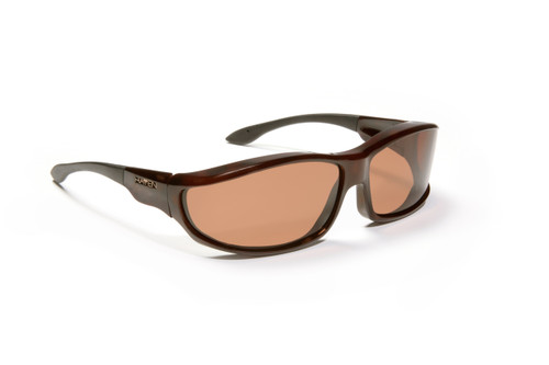 Haven Designer Fitover Sunglasses Hunter in Tortoise & Polarized Amber Lens (LARGE)