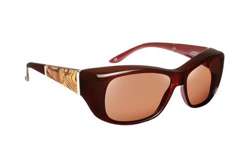 Haven Designer Fitover Sunglasses Morgan in Merlot & Polarized Driving Lens (MEDIUM/LARGE)