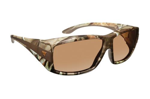 Haven Designer Fitover Sunglasses Breckenridge in Camo & Polarized Amber Lens (MEDIUM/LARGE)