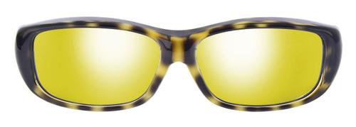 Jonathan Paul® Fitovers Eyewear Medium Queeda in Cheetah & Gold Mirror QS003YM