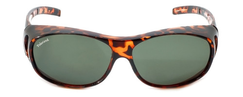 Montana Designer Fitover Sunglasses F01 in Gloss Tortoise & Polarized G15 Green Lens