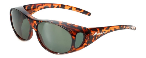 Montana Designer Fitover Sunglasses F01 in Gloss Tortoise & Polarized G15 Green Lens