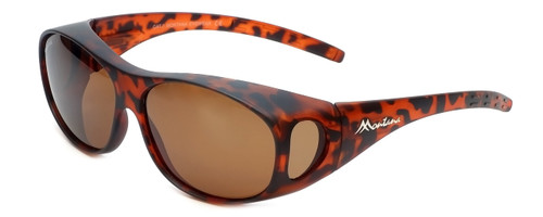 Montana Designer Fitover Sunglasses F01C in Matte Tortoise & Polarized Brown Lens