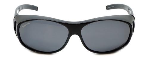 Montana Designer Fitover Sunglasses F01E in Gloss Black & Polarized Grey Lens