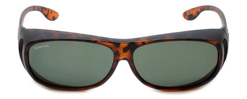 Montana Designer Fitover Sunglasses F02B in Matte Tortoise & Polarized G15 Green Lens