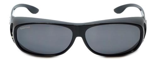 Montana Designer Fitover Sunglasses F02E in Gloss Black & Polarized Grey Lens