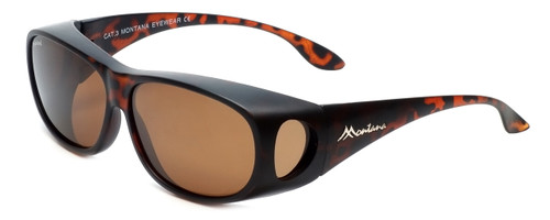 Montana Designer Fitover Sunglasses F03C in Matte Tortoise & Polarized Brown Lens
