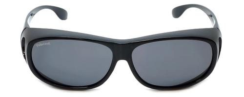 Montana Designer Fitover Sunglasses F03E in Gloss Black & Polarized Gr