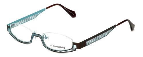 Eyefunc Designer Eyeglasses 288-18 in Gold & Blue 49mm :: Custom Left & Right Lens