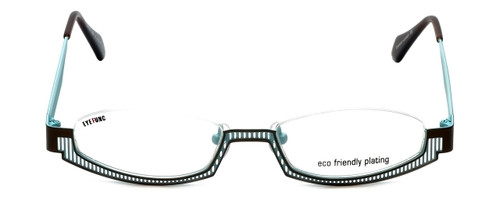 Eyefunc Designer Eyeglasses 288-18 in Gold & Blue 49mm :: Custom Left & Right Lens