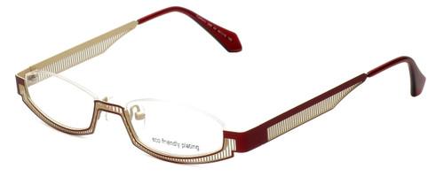 Eyefunc Designer Eyeglasses 288-44 in Red & Tan 49mm :: Custom Left & Right Lens