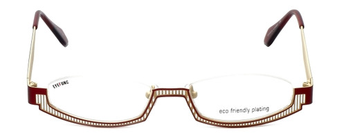 Eyefunc Designer Eyeglasses 288-44 in Red & Tan 49mm :: Custom Left & Right Lens