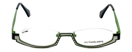 Eyefunc Designer Eyeglasses 288-54 in Silver & Green 49mm :: Custom Left & Right Lens
