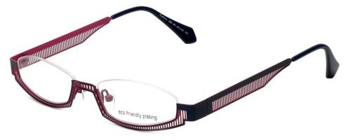 Eyefunc Designer Eyeglasses 288-90 in Navy & Pink 49mm :: Custom Left & Right Lens