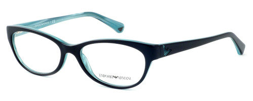 Emporio Armani Designer Reading Glasses EA3008-5052 in Black Azure