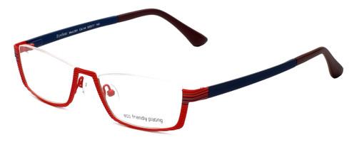 Eyefunc Designer Eyeglasses 591-44 in Red & Blue 52mm :: Custom Left & Right Lens