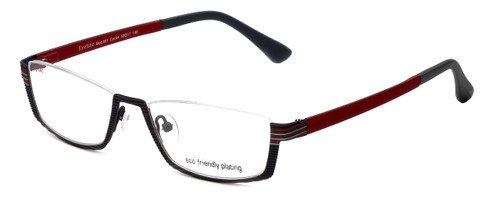 Eyefunc Designer Eyeglasses 591-54 in Grey & Red 52mm :: Custom Left & Right Lens
