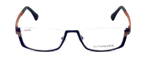 Eyefunc Designer Eyeglasses 591-90 in Blue & Orange 52mm :: Custom Left & Right Lens