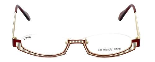Eyefunc Designer Eyeglasses 288-44 in Red & Tan 49mm :: Rx Single Vision
