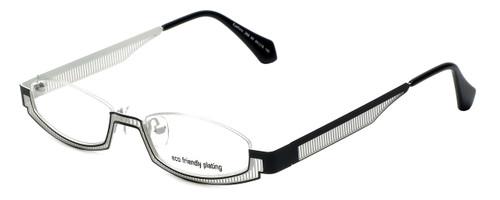 Eyefunc Designer Eyeglasses 288-69 in Black & White 49mm :: Rx Single Vision