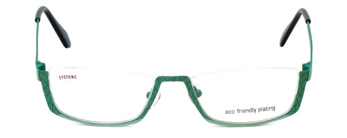 Eyefunc Designer Eyeglasses 505-72 in Green 51mm :: Rx Single Vision
