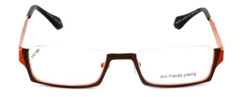 Eyefunc Designer Eyeglasses 530-18 in Brown & Orange 50mm :: Rx Single Vision