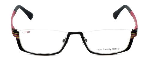 Eyefunc Designer Eyeglasses 591-69 in Black & Pink 52mm :: Rx Single Vision