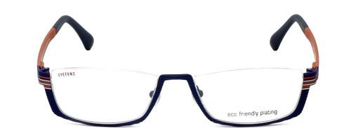 Eyefunc Designer Reading Glasses 591-90 in Blue & Orange 52mm