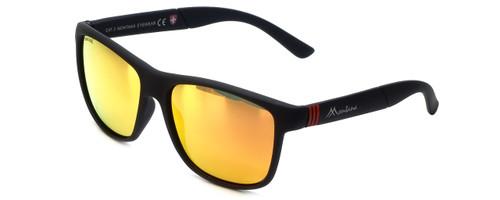 Montana Eyewear Designer Polarized Sunglasses MS312C in Matte-Black & Orange Mirror Lens
