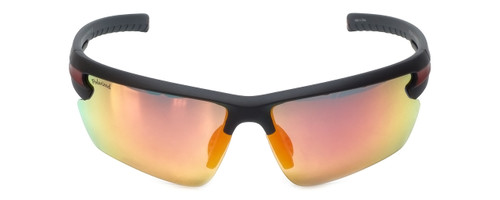 Montana Eyewear Designer Polarized Sunglasses SP305B in Matte-Black & Red Mirror Lens