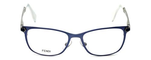 Fendi Designer Reading Glasses FF0036-XW9 in Matte Blue 52mm