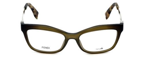 Fendi Designer Reading Glasses FF0050-MOK in Green Gold 53mm
