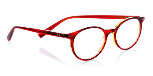 EyeBobs Designer Reading Glasses Case Closed 2419 77 Red & Orange Crystal