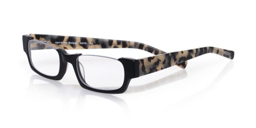 EyeBobs Designer Reading Glasses Snippy 2375 00 Black with Black & White Tortoise (Matte Finish)