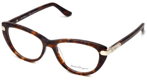 Salvatore Ferragamo Designer Eyeglasses SF2720-214 in Tortoise 52mm :: Custom Left & Right Lens