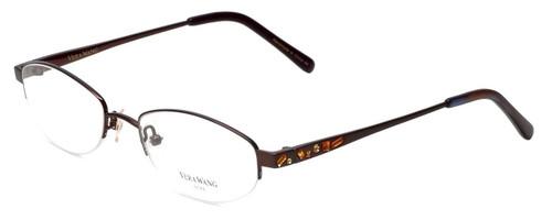 Vera Wang Designer Eyeglasses Glitter in Burgundy 50mm :: Custom Left & Right Lens