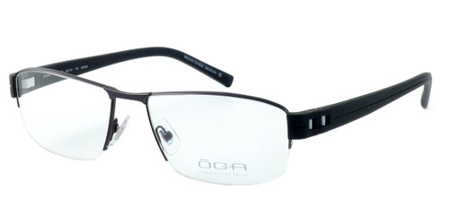 OGA Designer Reading Glasses 7926O-GG082 in Gunmetal & Black
