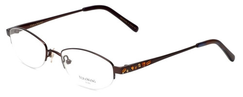 Vera Wang Designer Eyeglasses Glitter in Burgundy 50mm :: Rx Bi-Focal
