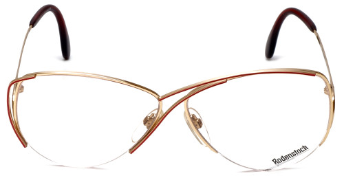 Rodenstock Designer Eyeglasses 828 in Gold & Red 59mm :: Rx Bi-Focal