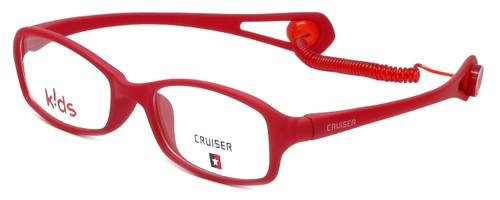 Cruiser Kids Designer Eyeglasses 2895 in Matte-Red 43mm :: Custom Left & Right Lens