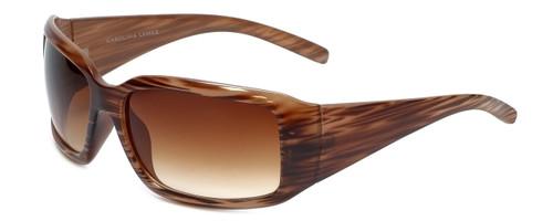 Carolina Lemke Designer Sunglasses CL1030 Brown Stripe & Brown Gradient