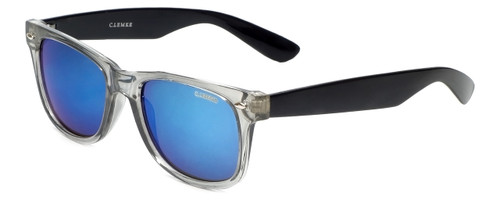 Carolina Lemke Designer Sunglasses CL2002 Black Crystal & Blue Mirror Lens