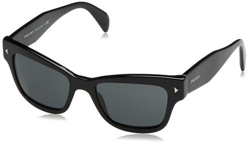 Prada Designer Sunglasses PR27RS-IAM4O0 in Black & Grey Lens