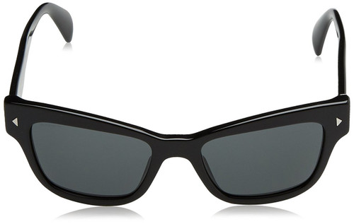 Prada Designer Sunglasses PR27RS-IAM4O0 in Black & Grey Lens