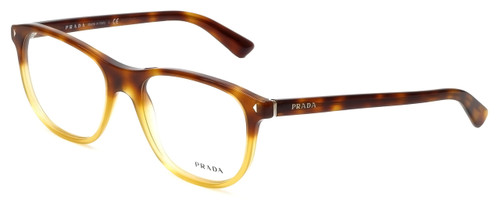 Prada Designer Eyeglasses VPR17R-TKU1O1 in Light Havana 56mm :: Progressive