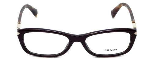 Prada Designer Reading Glasses VPR04P-ROM1O1 in Burgundy 52mm