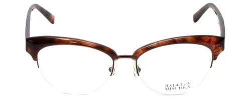 Badgley Mischka Designer Eyeglasses Vivianna in Brown-Horn 54mm :: Rx Single Vision