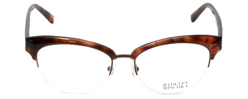 Badgley Mischka Designer Reading Glasses Vivianna in Brown-Horn 54mm